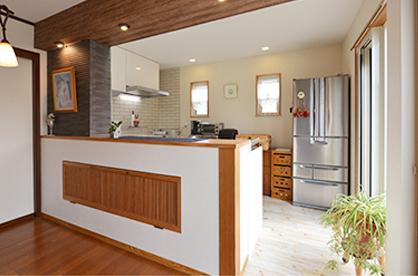 対面キッチンの参考写真