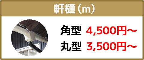 軒樋(m)