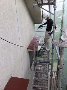 南蔵王町外壁塗装工事 足場組み立て編