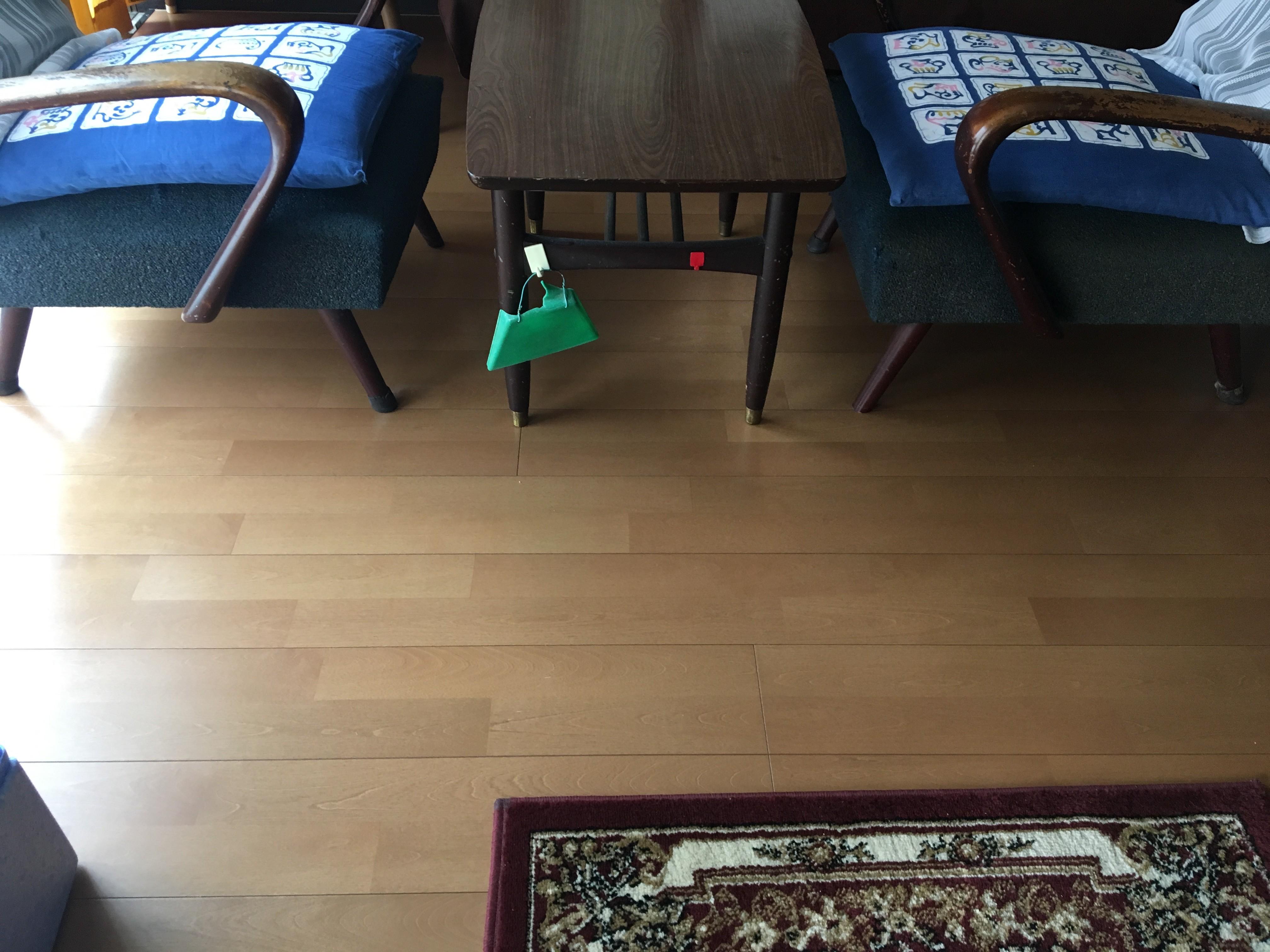 床の追い張り