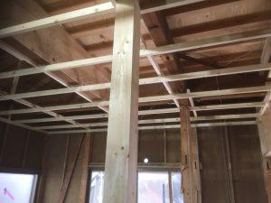 幕山台 全面改修工事 壁天井のボード張り
