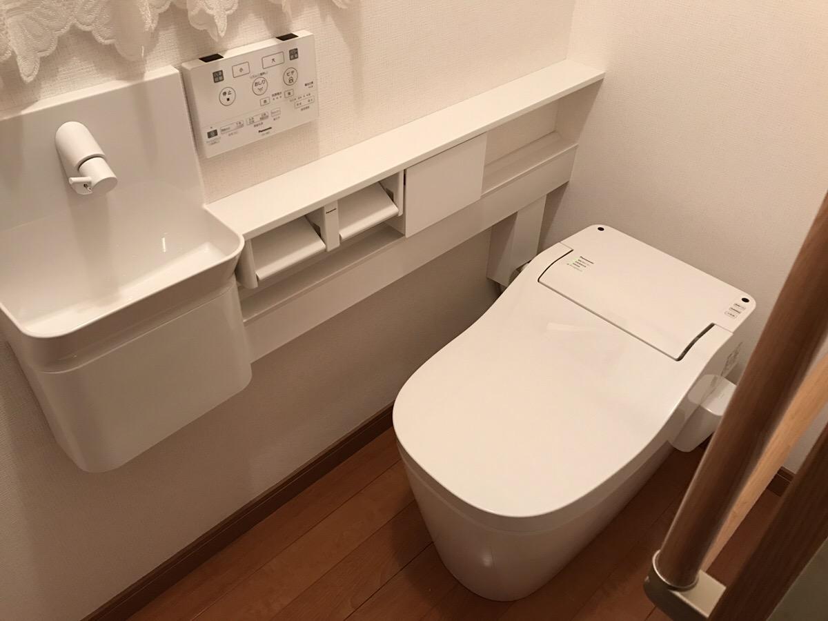 福山市加茂町 トイレ交換工事・クロス張替工事