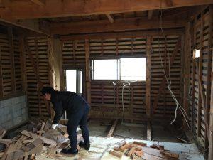 福山市で全面改修工事中です。#リフォーム #福山市