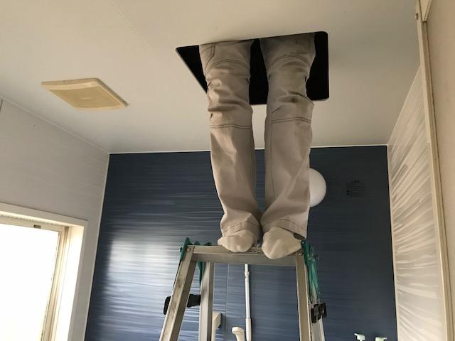 福山市神辺町 M様邸 浴室暖房換気扇取り付け工事