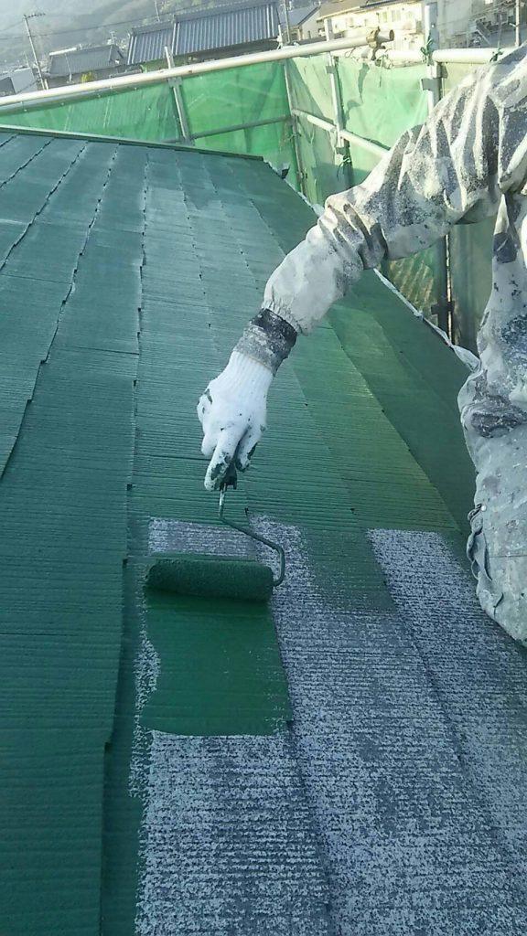 山手町の外壁塗装  本日は屋根塗装 仕上げてす