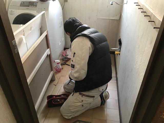 福山市平成台 H様邸洗面化粧台取り替え工事