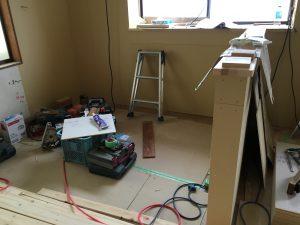 福山市 水回り改修工事 キッチンカウンター造作