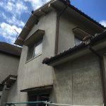 福山市外壁屋根塗装工事スタート ムキコート