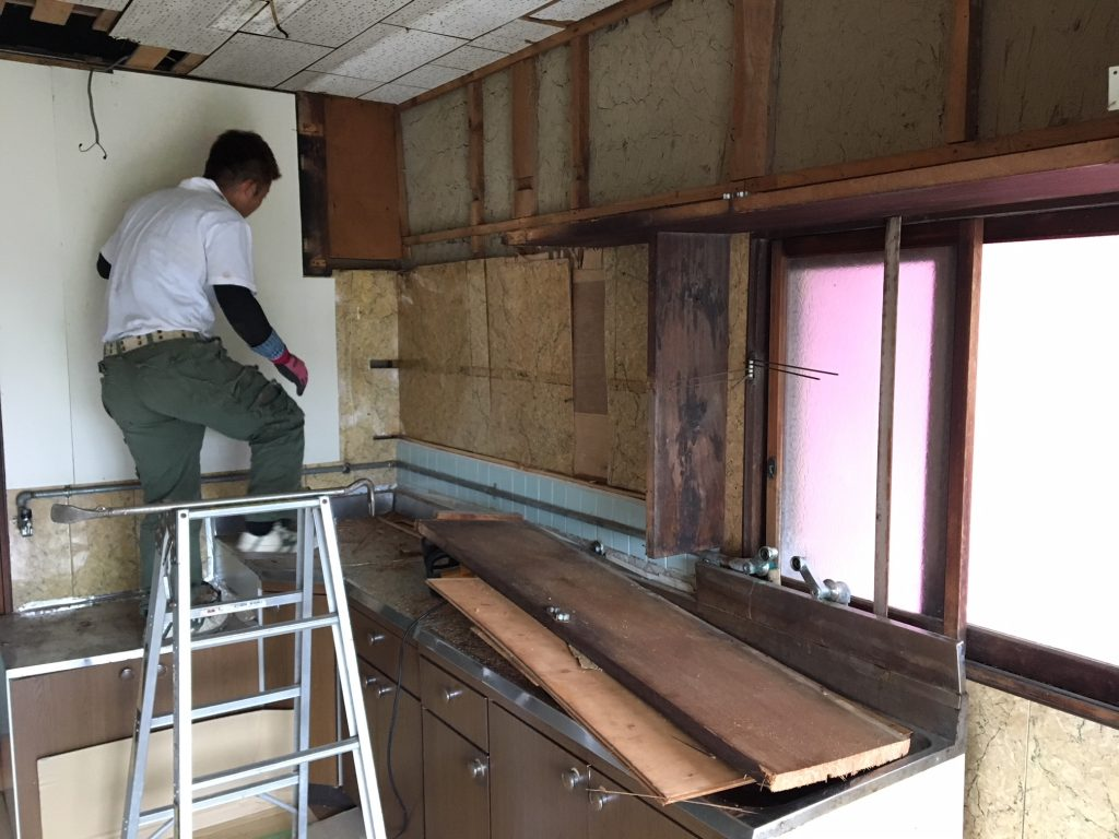 福山市熊野町M様邸キッチン改修工事