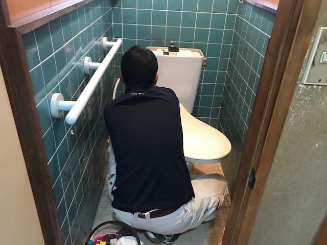 福山市曙町O様邸 トイレ取り替え工事