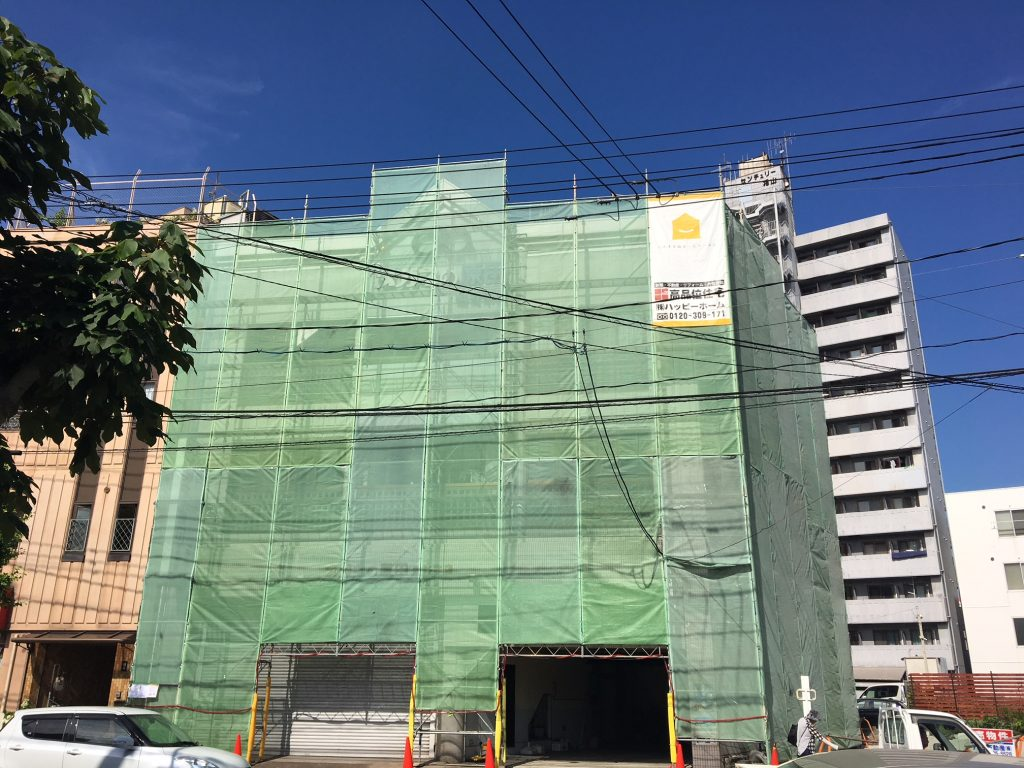 福山市船町メガネの原田様邸 外壁塗装工事