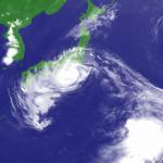 台風12号到来。