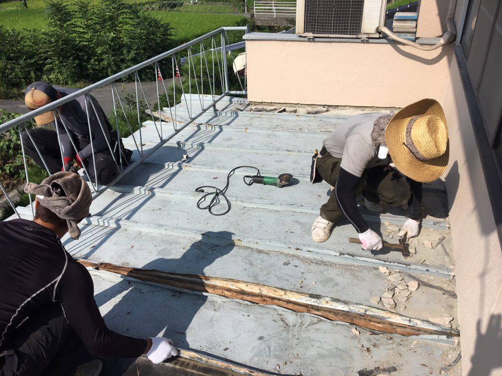 福山市熊野町M様邸 ベランダ改修工事