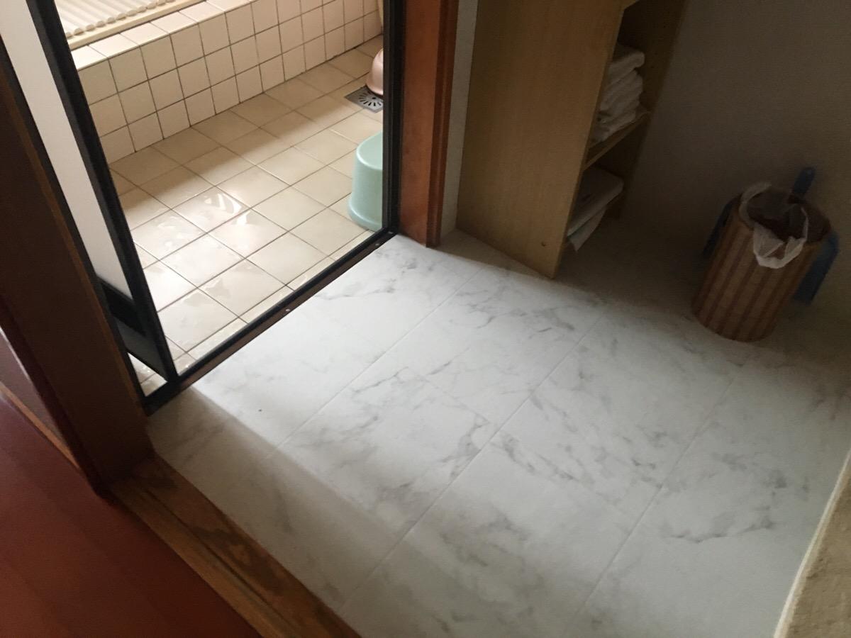 和室改修・浴室間仕切り補修・床下消毒・シロアリ防蟻工事