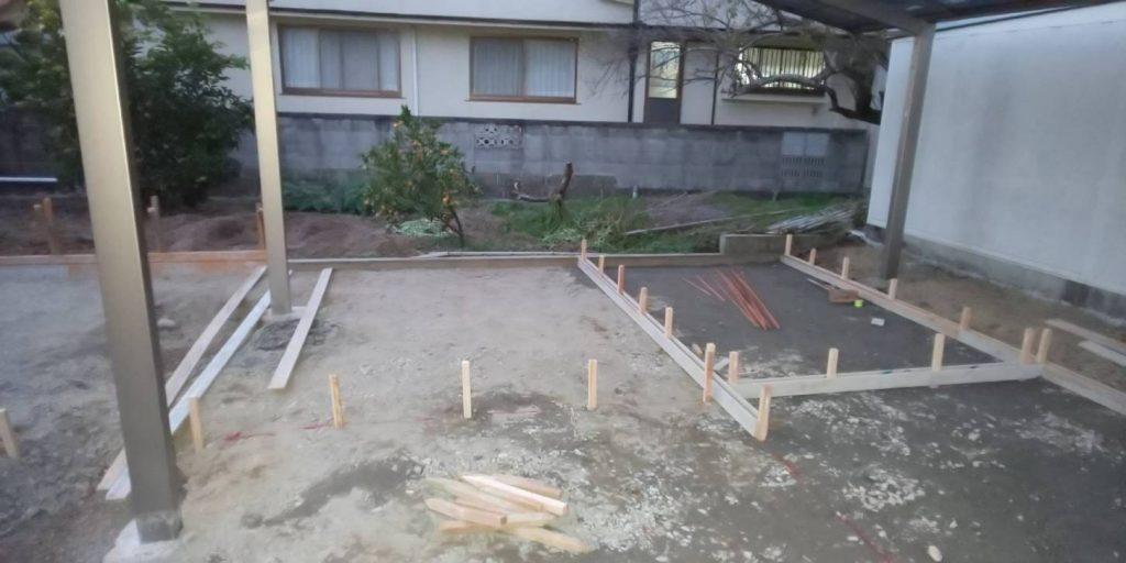 井原市にて外構工事がスタートです