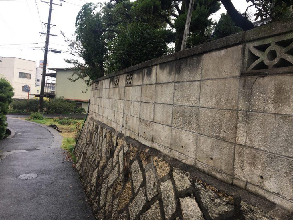 福山市引野町石垣・ブロック塀補修工事