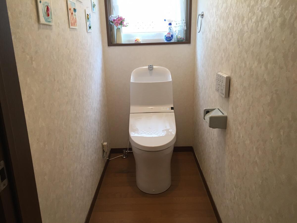 新市町にてトイレを交換いたしました。
