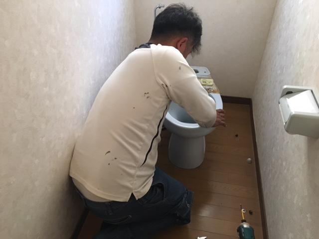 福山市新市町A様邸 トイレ交換工事