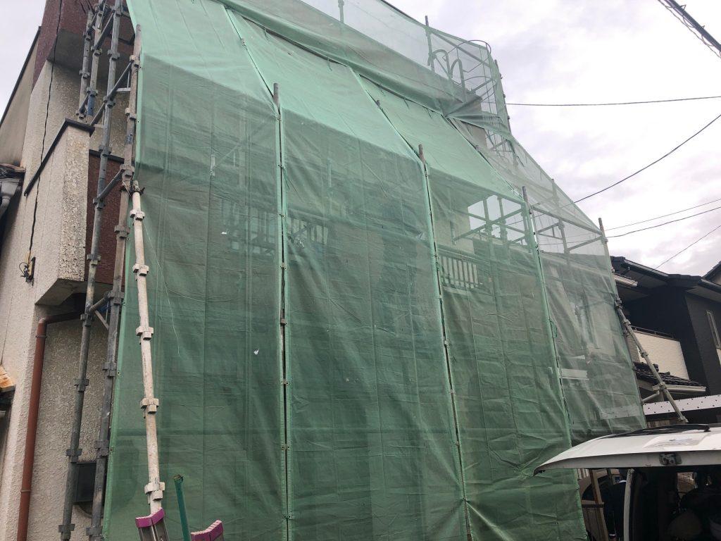 福山市西深津町S様邸外壁塗装・聚楽塗り替え工事