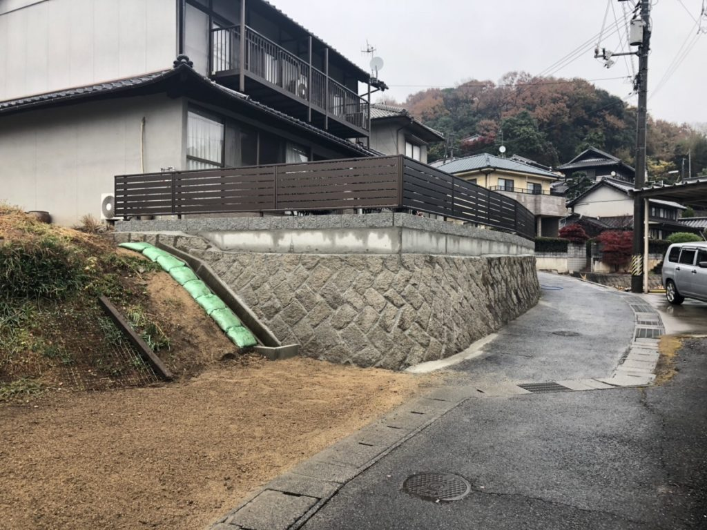 福山市引野町石垣・ブロック塀改修工事完成です!!