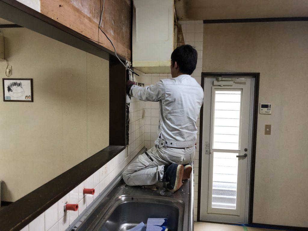 福山市大谷台キッチン取替工事