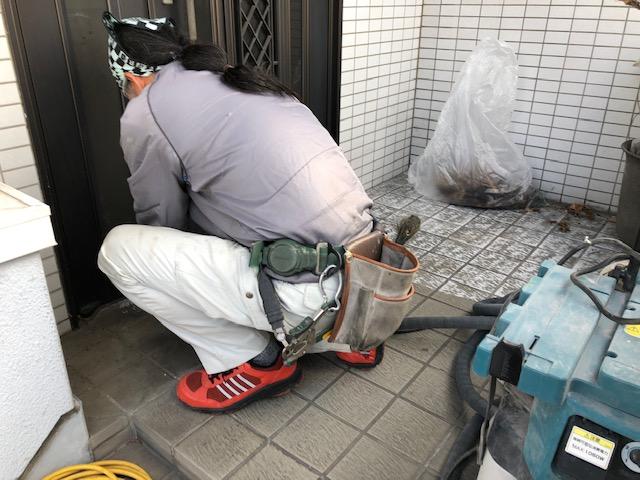 福山市新市町J様邸 ポスト・階段防水工事