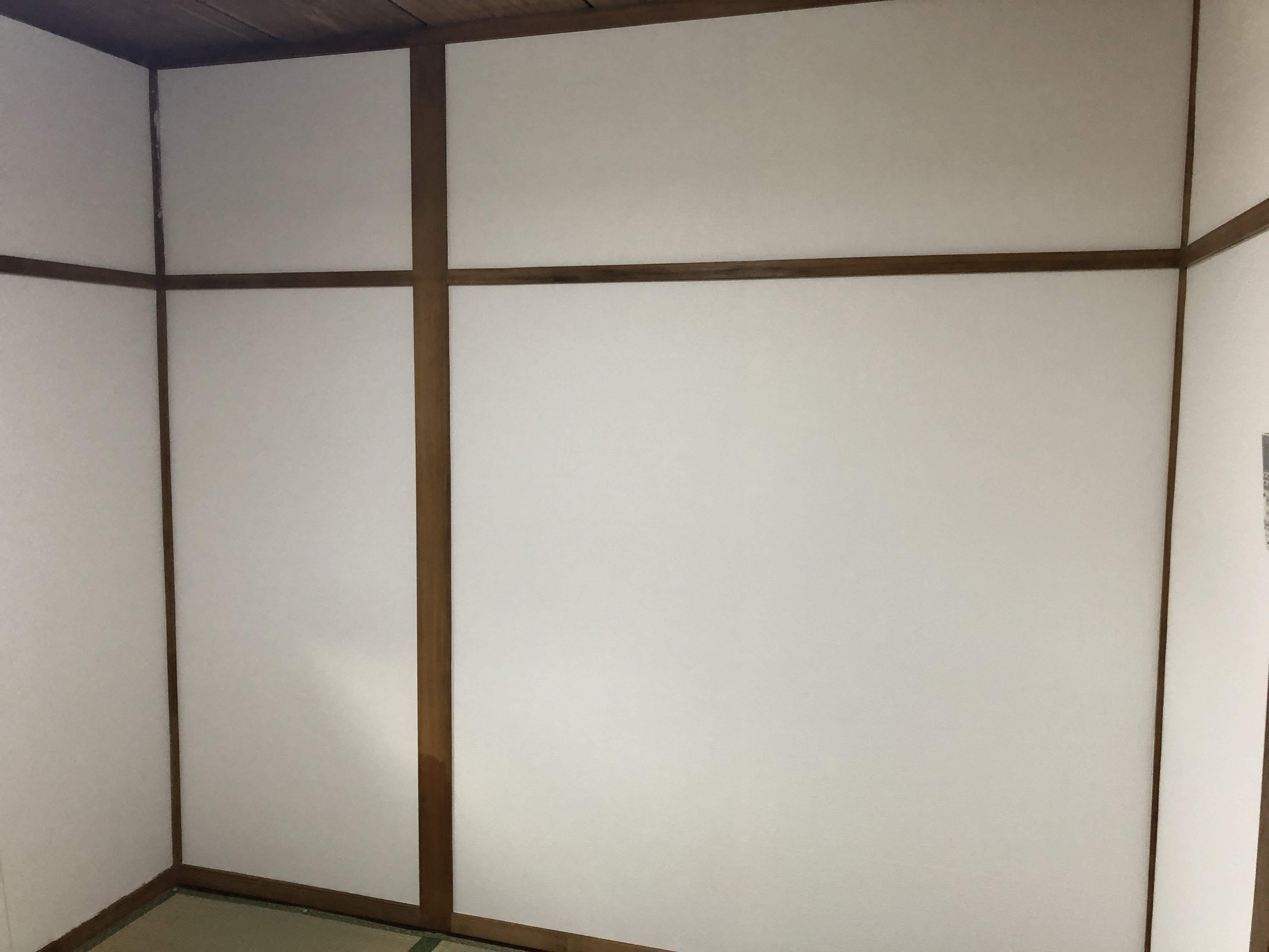 福山市久松台 廊下追い張り・和室改修工事完了致しました。