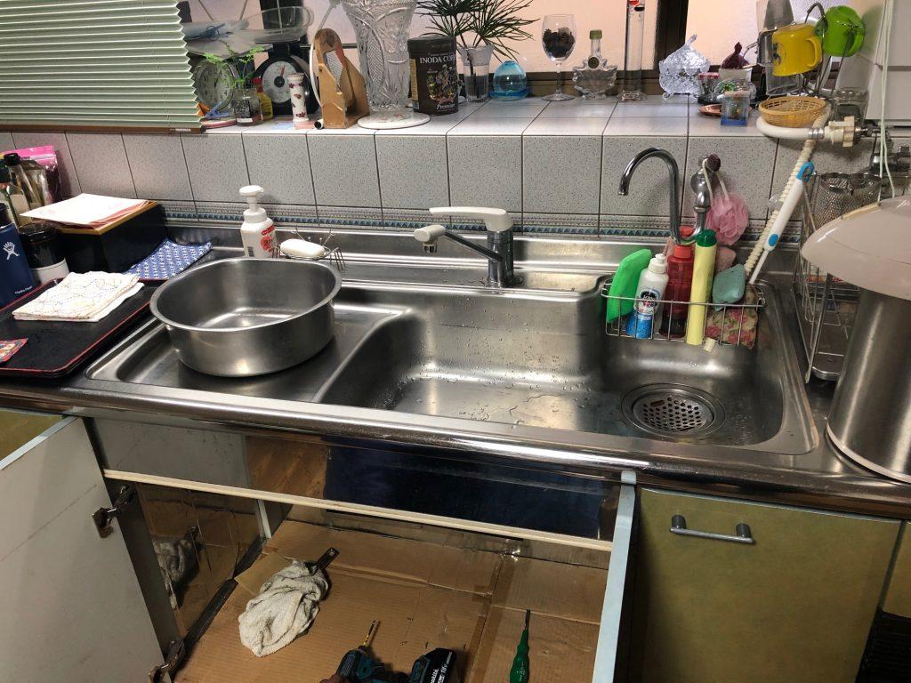 福山市神辺町K様邸水栓交換工事