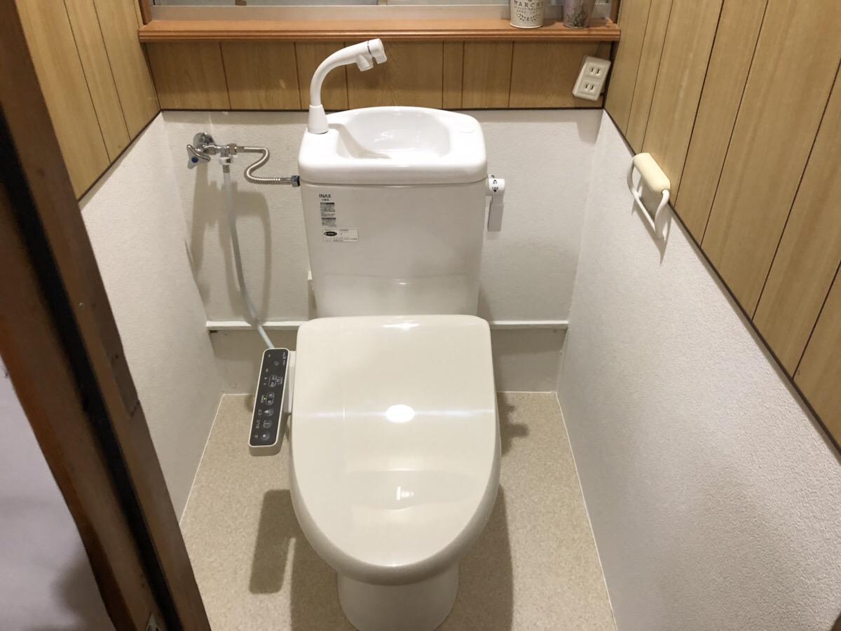 簡易水洗トイレを交換いたしました!