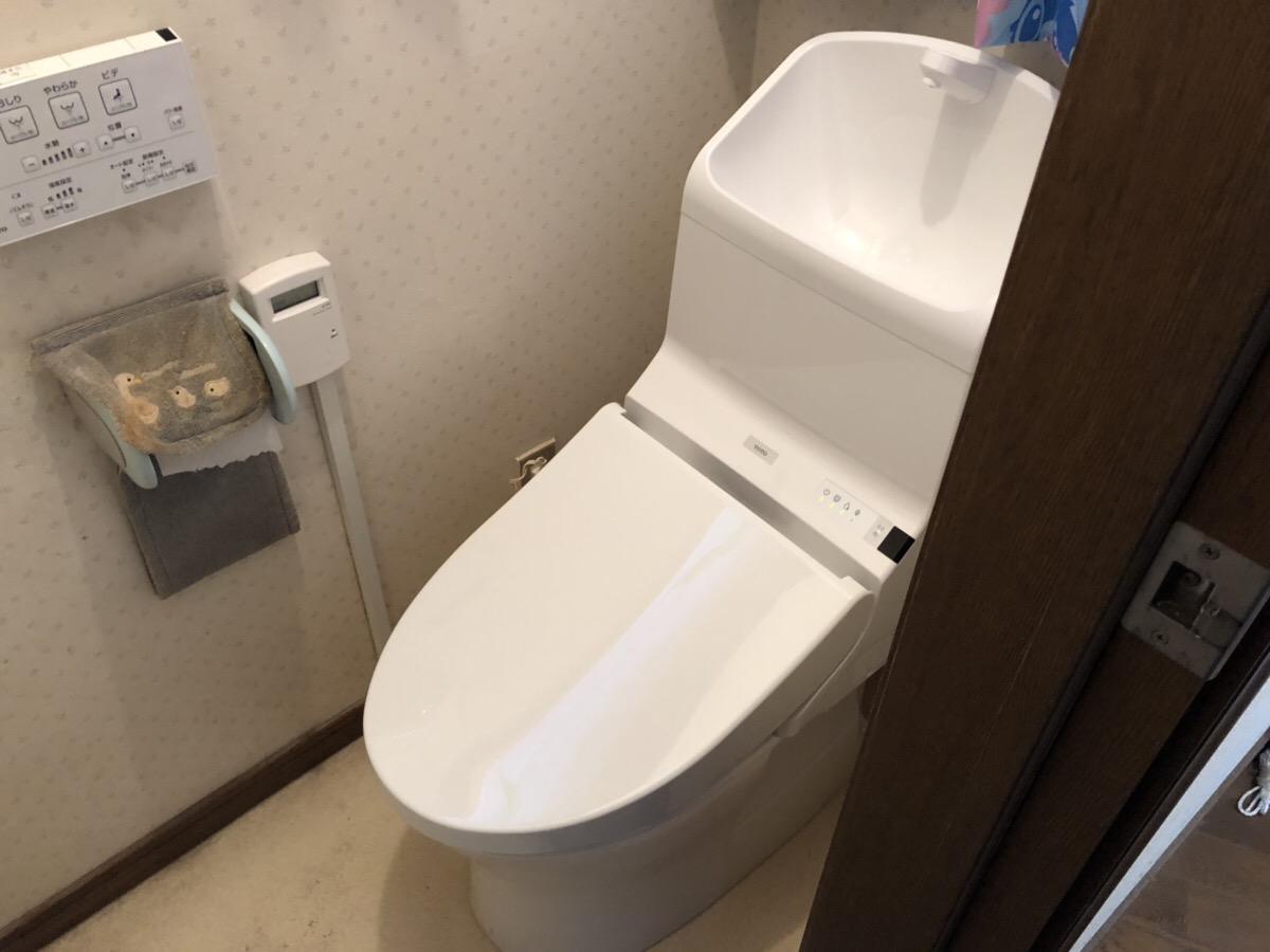 福山市駅家町にてトイレを交換しました!