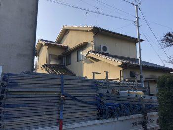 福山市本庄町外壁塗装工事中