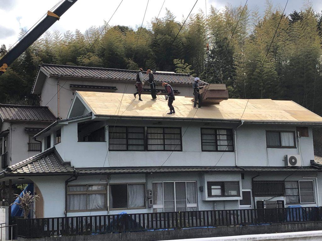 福山市芦田町にて屋根葺き替え工事完了いたしました。