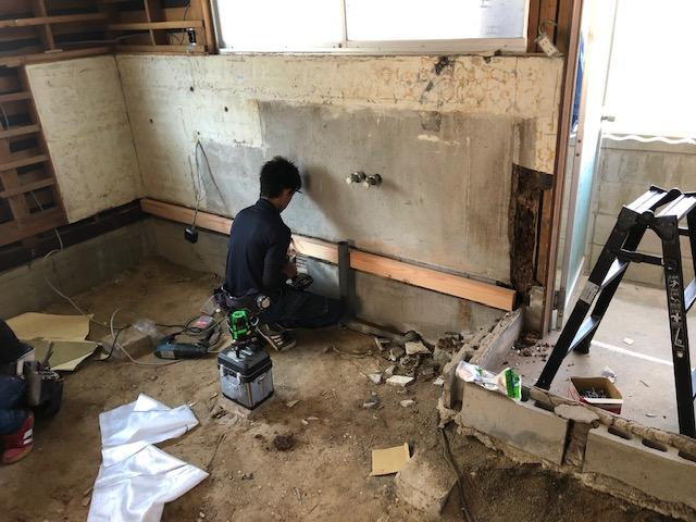 福山市新市町キッチン改修工事