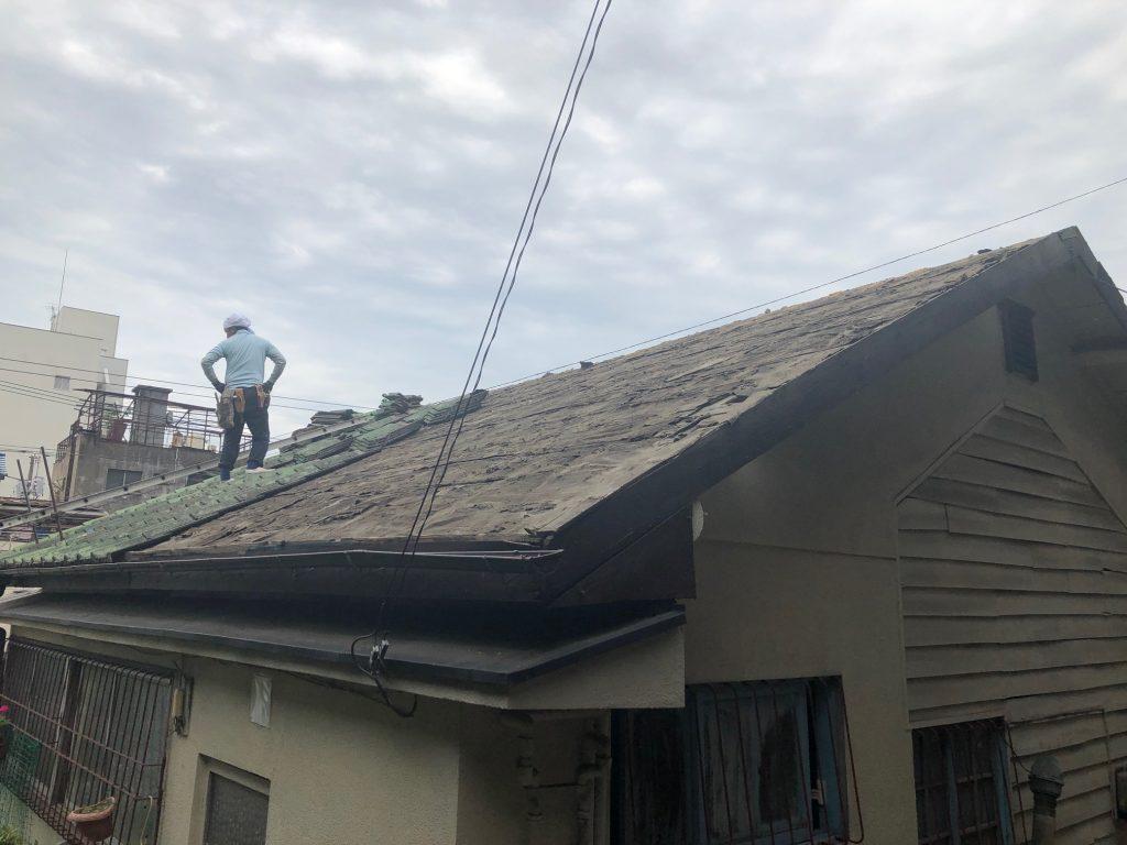 尾道市西土堂H様邸屋根葺き替え工事