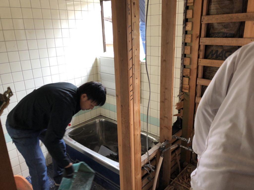 春日町浴室改修工事スタート!!