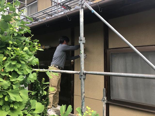 府中市栗柄町Y様邸外壁塗装工事