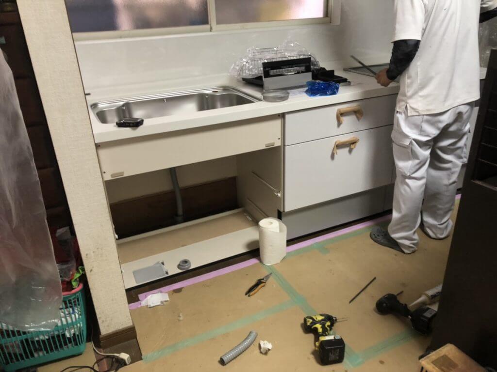 福山市駅家町キッチン改修工事の続きのご紹介です。