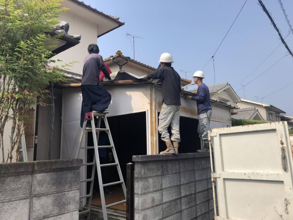 神辺町プレハブ撤去工事