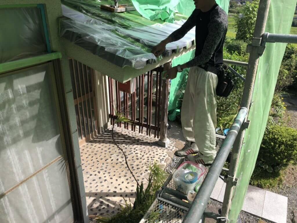 神辺町外壁塗装工事