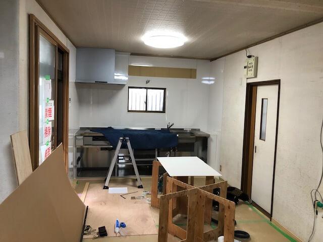 LDKリフォーム工事スタート in 神辺町