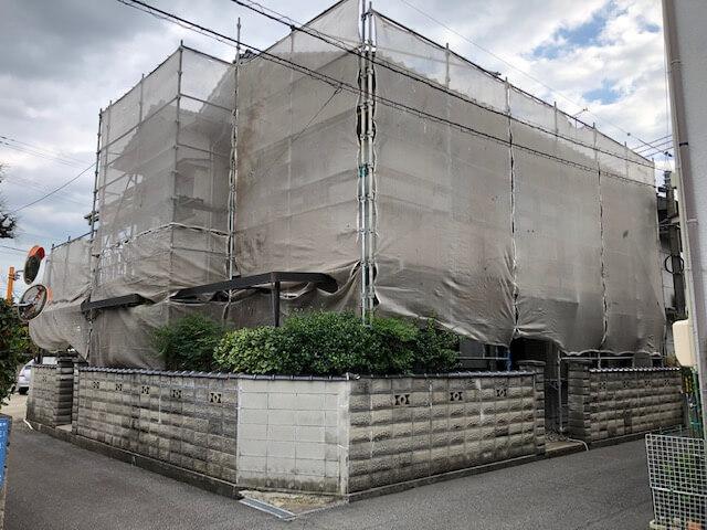 尾道市H様邸    外壁塗装工事