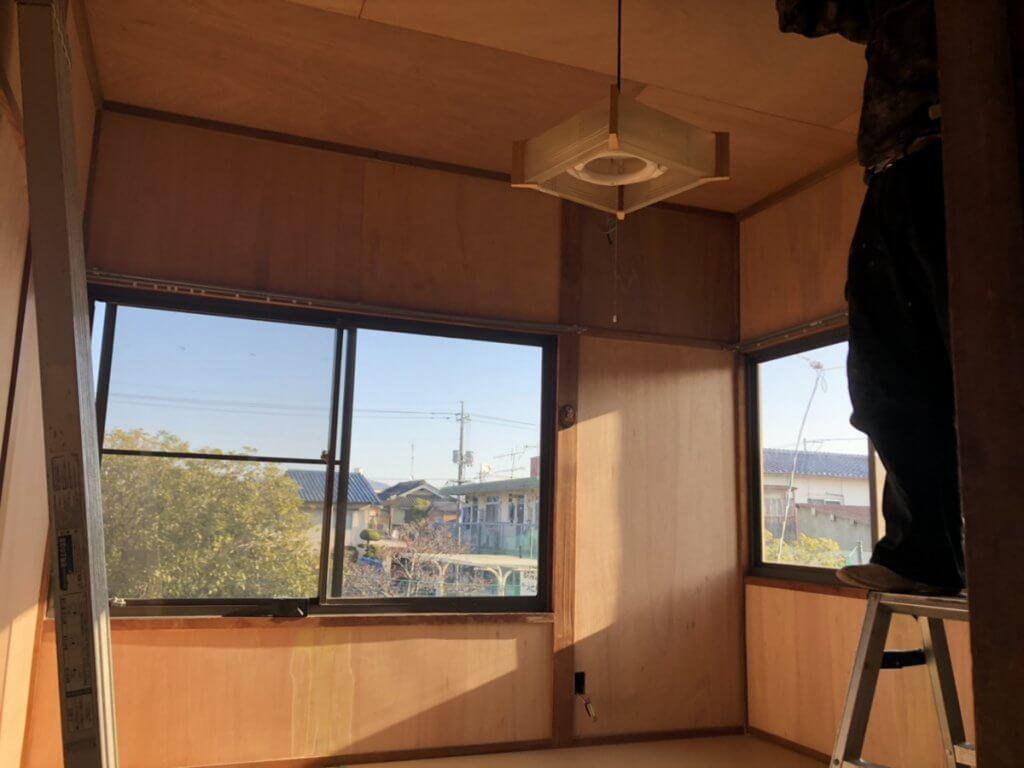 福山市本庄町H様邸 和室→和洋室(床フローリング)改修工事