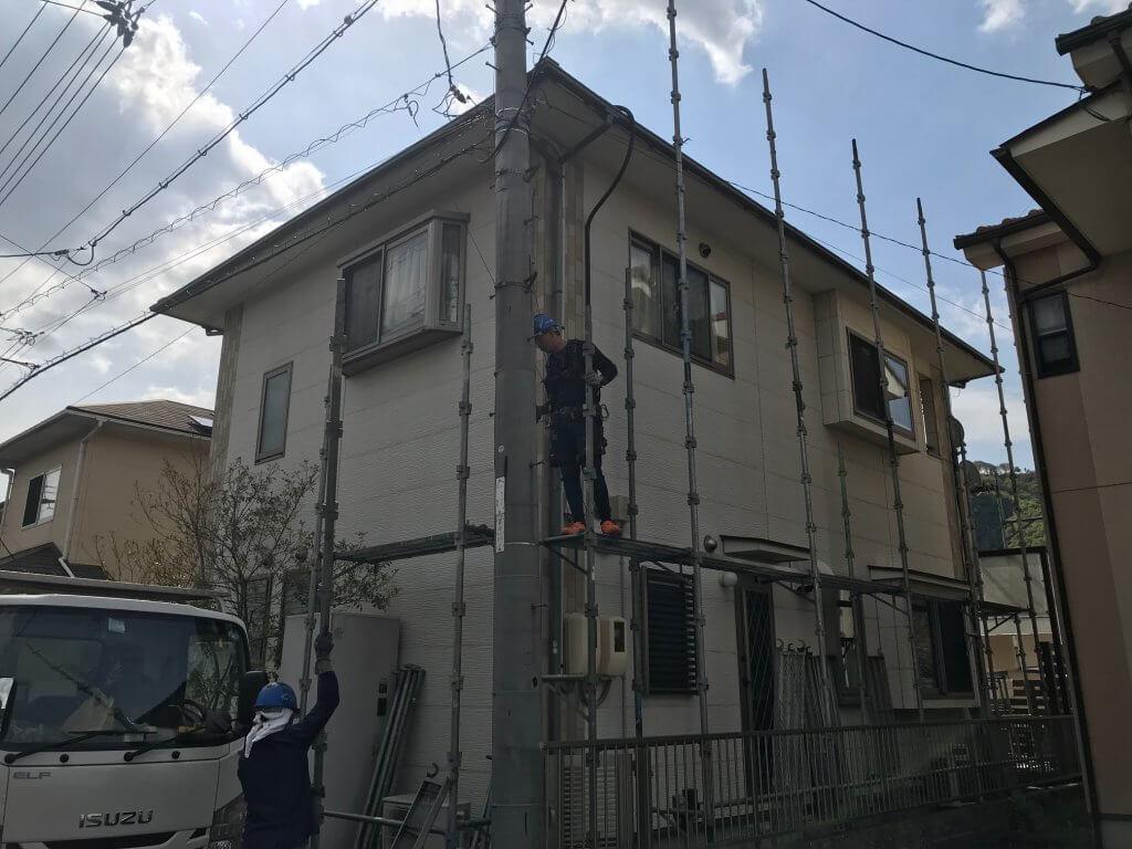 福山市駅家町N様邸 外壁塗装及びエクステリア工事