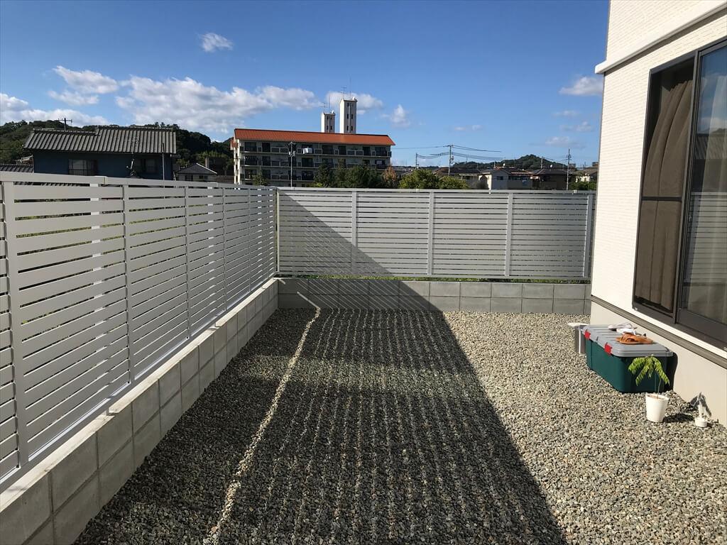 プライバシーを守るフェンスを設置!